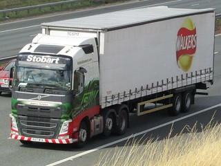 Eddie Stobart, Volvo FH  (Jessica Katelyn) With Walkers Crisps Trailer.