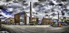Panoramic Industrial Zone - Colour (Pieter de Knijff) Tags: industrial panoramic tile factory colour color urban exploring urbex holland netherlands dutch woerden