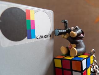Digi Grey, the rubik's cube and the mole