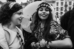 (Bastex - Unknown Street Photographer) Tags: streetphotography streetbw streetphoto streetlife streetphotographer streetshot streetbnw event pillowfight photojournalism nikon bastex cracowstreetcollective cracow 2018 street