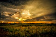 Arizona sunset + rays (R Lund photography) Tags: sunset clouds godrays rays arizona cloudy tucson southwest sunrays sunray