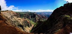 Waimea Canyon, Kauai Island (Alessio Corsi) Tags: hawaii kauai waimea canyon waimeacanyon iphone panoramic panorama falls fall island pacificocean nature sky