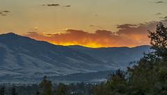 Ashland sunrise (acase1968) Tags: ashland oregon rogue valley sunrise nikon sigma 85mm f14 cascade mountain range cascades d7000 fiery