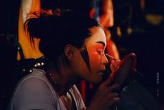 俏 pretty in red (Chez C.) Tags: chineseopera 戲班 performance backstage culture chineseculture hongkong 香港 盂蘭節 神功戲 演員 performers artists