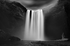 One Step Away (KelvinZhangFoto) Tags: iceland skogafoss waterfall bw nature longexposure