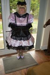 Pale lilac uniform 16 (sissybarbie1066) Tags: sissy maid maids sissymaid sissymaids slave collar bondage locked pale lilac black uniform