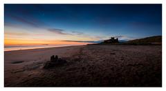 Bamburgh Castle(s) (muddybootsuk) Tags: northumberland bamburgh beach sunrise castle dawn orangesky seascape farneisland sand northeast englandmuddybootsuk nikond810 greatbritain unitedkingdom