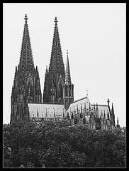 Cologne Cathedral #4 (jimsawthat) Tags: blackandwhite architecture architecturaldetails urban cologne germany church cathedral