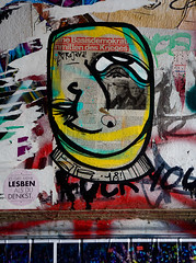 HH-Wheatpaste 3808 (cmdpirx) Tags: hamburg germany reclaim your city urban street art streetart artist kuenstler graffiti aerosol spray can paint piece painting drawing colour color farbe spraydose dose marker stift kreide chalk stencil schablone wall wand nikon d7100 paper pappe paste up pastup pastie wheatepaste wheatpaste pasted glue kleister kleber cement cutout