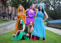Group portrait from the 2018 Edinburgh Festival Fringe - The Bacchanals (Gordon.A) Tags: scotland edinburgh fringe edinburghfestival edinburghfestivalfringe edfringe edfest august 2018 embra auldreekie dùnèideann festival festiwal festivaali festivalen wyl féile festspiele actor actress artist arts artsfestival performingarts performingartsfestival performer performers bacchanals euripides bacchae mikra theatricals theatre greek mythology comedy pretty woman lady face people costume creative culture urban city outdoor outdoors outside day daylight pose posed group portrait portraitphotography colour color colours colourful colourportrait colourstreetportrait naturallight naturallightportrait digital canon eos 750d sigma sigma50100mmf18dc lens