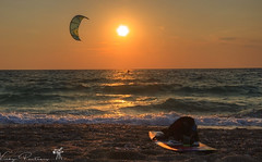 Sunset Kitesurfers!!! Sky is not the Limit (vipantazi) Tags: lefkada sunset kitesurf kitesurfers greece ionian sea sky landscape