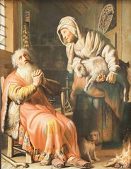 Tobit and Anna with the kid - Rembrandt van Rijn (1626) (Val in Sydney) Tags: rembrandt amsterdam holland museum rijkmuseum