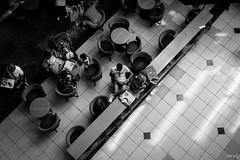 the cafe (xalphas) Tags: people fuji streetphotography bw blackandwhite monochrome fujifilm street