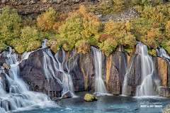Hraunfossar Falls, NW Iceland (macdad1948) Tags: iceland waterfall landscapes hraunfossar lavafield autumn glacialwater river husafell