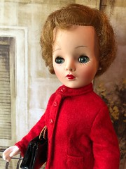 Lady in red (Foxy Belle) Tags: doll vintage red suit 4 1950s eloise ellie jackie kennedy 15balhhibelldollandtoycompanybrooklyn ny195258