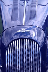 Giving Vent to Power and Beauty! (antonychammond) Tags: morgan morganmotorcompany cars sportscars automobiles vents radiator blue badge grille thegalaxy