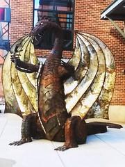 Dragon Artprize 2018 Sneak Peek_(3) (PhotoJester40) Tags: outdoors outside artprizeentry2018 artprize dragon statue