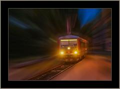 Es fährt ein... (Entry of..) (alfred.hausberger) Tags: regionalzug abend zug eggenfelden
