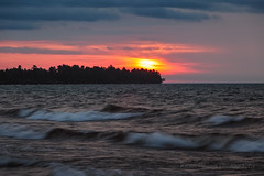 Fading Sunrise (Kevin Pihlaja) Tags: sunrise keweenaw upperpeninsula michigan lakesuperior greatlakes waves sky sun clouds landscape nature morning summer