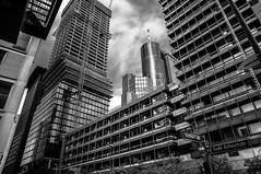 Große Gallusstraße (R. Henne) Tags: bw sw monochrome blackandwhite nikon d300 hochhäuser baustelle skycraper