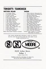 Northern Ireland vs Sweden - 1975 - Page 3 (The Sky Strikers) Tags: northern ireland sweden the european championship windsor park programme 20p