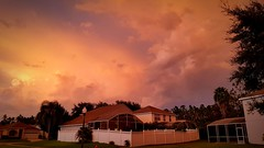 Holiday Atmosphere (scamart1st) Tags: sunset storm colour warm heat contrast weather sky florida clouds light twighlight