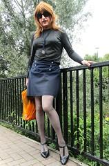 Shopping Over (Amber :-)) Tags: short navy skirt tgirl transvestite crossdressing