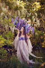 "TEATRONATURA ""Wisteria comes to life"" (valeriafoglia) Tags: wisteria purple flowers dress creature nature colors spring springtime art atmosphere amazing fantasy fairy creative composition capture beautiful beauty model makeup outfit photography photo pretty portrait"