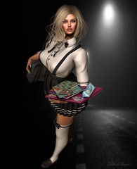 Baby one more time. (delilahhannu) Tags: secondlife blogging avatars hair prtty gosee {psychobyts} fashion school schoolgirl roleplay