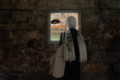 Roman Baths_through the window (abtabt) Tags: unitedkingdom uk england bath georgianarchitecture architecture museum romanbaths lady woman muslim dress islamic mobile photographing hijab window worldheritage blending d700sigma1224
