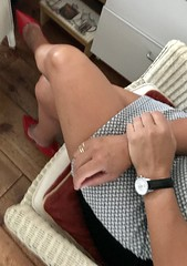 MyLeggyLady (MyLeggyLady) Tags: toe cfm cleavage feet stiletto hotwife sex milf sexy secretary teasing minidress crossed thighs pumps leather red legs heels