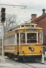 Lowell Massachusetts  - National Streetcar Museum - (Onasill ~ Bill Badzo) Tags: lowell massachusetts united states boott mills museum cotton restored nps nationalparksevices middlesexcounty mass ma onasill nrhp complex newengland textile manufacturing industry 1830sbuilding architecture adaptive reuse condos apartments offices exhibits tourist travel attraction site colonial old vintage photo building manufacture sky lowellnationalhistoricpark lnhp canal railway steam engine 1830 buildings factoriestextiles streetcar conductor yellow seashore trolley 206