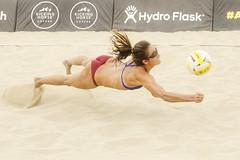 "DIG (Steve Corey) Tags: manhattan beach open volleyball tournament ""wimbledon volleyball"" dig sand professional womens ponytail action dive leap lunge avp"