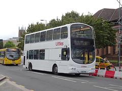 Littles LB02YXM Derby (Guy Arab UF) Tags: littles travel lb02yxm agz9366 volvo b7tl wright gemini bus football duties pride park derby derbyshire independent buses go ahead london vwl14