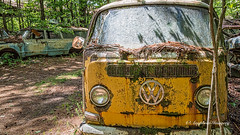 Old Car City 123 (augphoto) Tags: augphotoimagery vw volkswagen abandoned decay old texture van vehicle weathered white georgia unitedstates