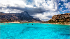 Balos, Gramvousa, Crete (Heathcliffe2) Tags: balos gramvousa crete greece greek island beach bay blue clear waters sea chania travel beautiful sparkling heaven luxury summer traveler sky stormy sands boats boat swim cruise ferry daytrip letsgo adventure explore wow
