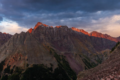 The Pyramids at Sunset (Matt Payne Photography) Tags: 13ers 14er 14ers alpenglow aspen autumn blue centennials climbing colorado elkmountains fall landscape mountains pyramidpeak red thunderpyramid