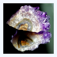 rock (overthemoon) Tags: rock amethyst reflection square frame crystals purple macromondays