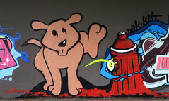 graffiti in Amsterdam (wojofoto) Tags: amsterdam nederland netherland holland graffiti streetart wojofoto wolfgangjosten hof amsterdamsebrug flevopark legalwall