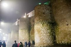 fachada entrada de noche y niebla exterior iglesia de San Pedro Ciudad Real (Rafael Gomez - http://micamara.es) Tags: fachada entrada de noche y niebla exterior iglesia san pedro ciudad real