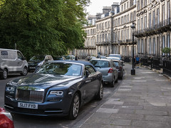 Si, aquí aparqué mi coche (Guillermo Relaño) Tags: rolls royce edinburgh scotland escocia edimburgo nikon d90 guillermorelaño cabrio descapotable dawn cabriolet