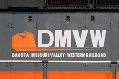 DMVW (Moffat Road) Tags: dakotamissourivalleywestern dmvw northdakota nd train railroad locomotive logo emd sd403 6911 maxturn wayfreight lake
