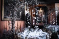 Decorations ... (Julie Greg) Tags: castle leedcastle details soft decoration flower festival frame table grass england leedscastlefestivalofflowers
