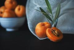 Apricots (d.barnett53) Tags: onblack tabletop food apricot fruit stilllife