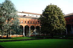 Interior Courtyard, Catholic University of the Sacred Heart Università Cattolica del Sacro Cuore - Location of the SRN Conference (dewelch) Tags: academic architecture church college family history italia milan milano screenwritingresearchnetwork srnconference travel university