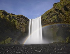 Rainbow in front of the Skogafoss waterfall in Iceland (_Yorick_) Tags: sony a7riii a7m3 teamsony waterfall skogafoss smooth nisi v5pro rainbow iceland sel1635gm gmaster ngc longexposure manfrottoelement snapseed water travelphotography nd10 neutraldensity filter colours