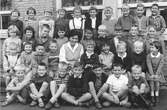 Class photo (theirhistory) Tags: boy children kid girl school class form pupils trousers jumper shoes wellies rubberboots teacher