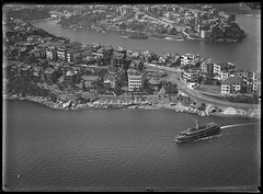 Cremorne Point, North Sydney,, 1927-1932, Milton Kent, State Library of New South Wales (State Library of New South Wales collection) Tags: milton kent photography aerial sydney early glass plate negatives