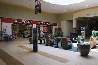 USA Erie PA Millcreek Mall Complex resting area by A.C. Moore store -