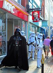 Jedi Burger To Go Please. (curly42) Tags: gloucesterretrofestival kfc darthvader imperialstormtroopers starwars costume reenactors